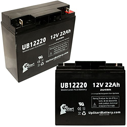 Replacement UB12100-S Universal Sealed Lead Acid Battery 2 Pack Replacement for eZip eZip 400 Battery 12V, 10Ah, 10000mAh, F2 Terminal, AGM, SLA