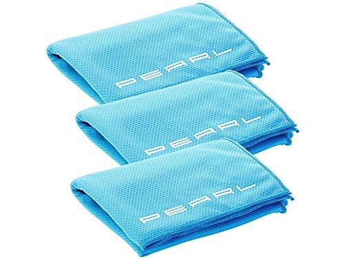 PEARL Selbstkühlendes Tuch: 3er-Set aktiv kühlende Multifunktionstücher, 110 x 55 cm (Kühldecke)