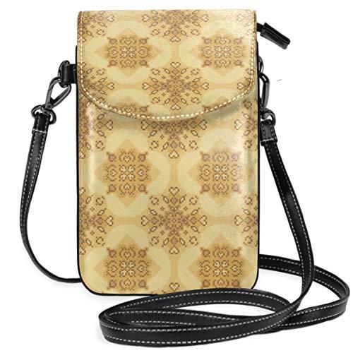 LEPO'S Handy-Umhängetasche Tasche Handtasche Bockshornklee Crossbody Smartphone Geldbörse