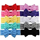 Baby Bow Headbands Turban Knotted, Girl's Hairbands for Newborn,Toddler and Childrens (Bowkont 10-Pack)