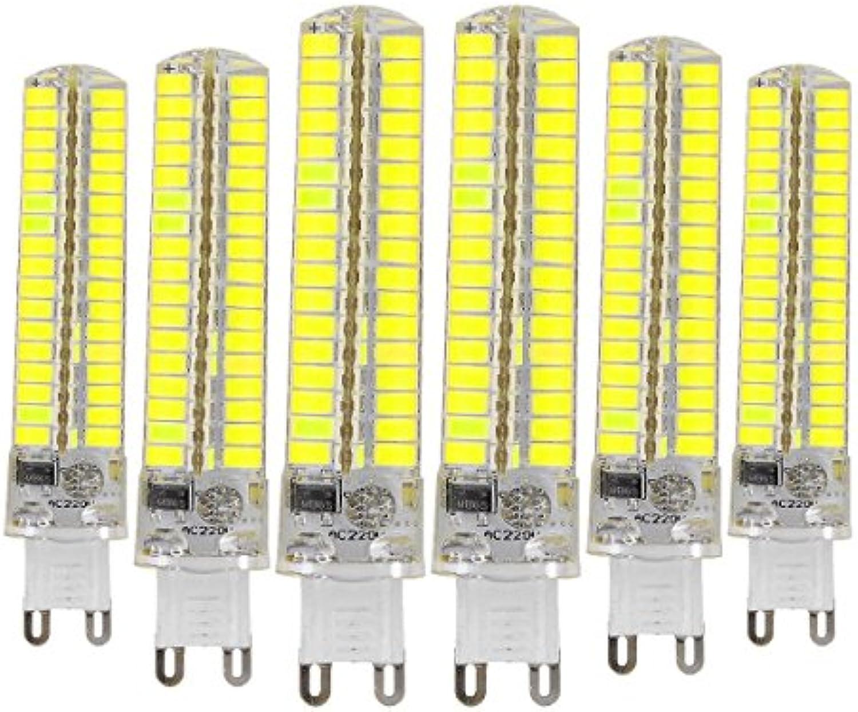 BMY Startseite Led-Lampen, Dimmable G9 10W 136LED 5730 SMD 900-1000 LM Warm Weiß Cool Weiß Silikon-Lampe LED Corn Bulbs AC 110-130V (6PCS) Leuchtmittel (Gre  kaltwei)