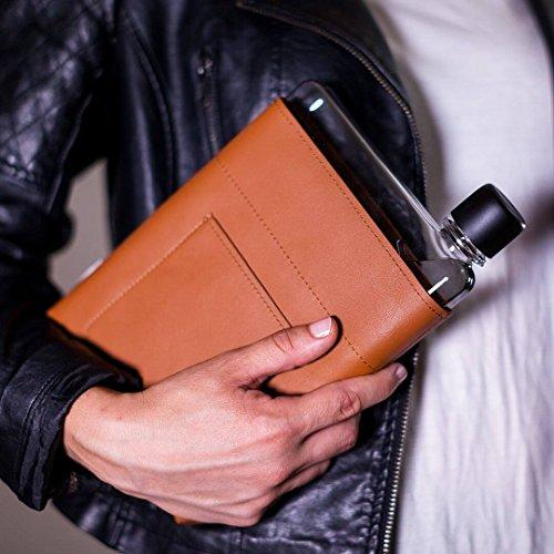 memobottle A5 Leather Sleeve/Leder-Schutzhülle A5 Wasserflasche