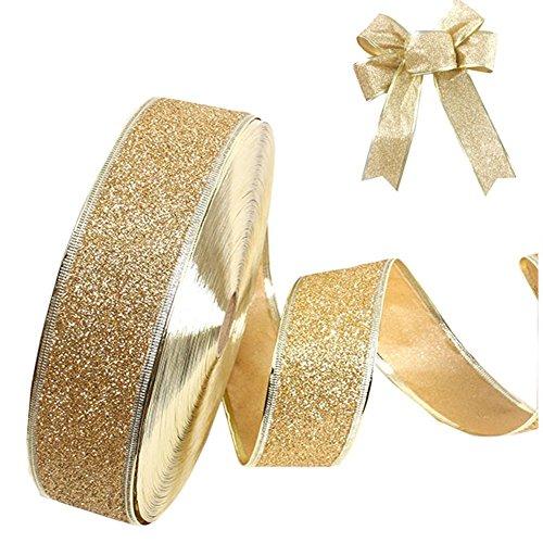 Kentop lazo banda decorativa cinta raso Navidad Cinta