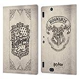 Head Case Designs Oficial Harry Potter Hufflepuff Parchment Sorcerer's Stone I Carcasa de Cuero Tipo Libro Compatible con Amazon Kindle Fire HDX 8.9