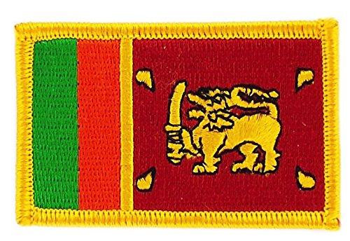 Patch Aufnäher bestickt Flagge Sri Lanka zum Aufbügeln Abzeichen Rucksack