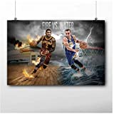 wzgsffs Basketball Poster Sstephen Curry vs Kyrie Irving