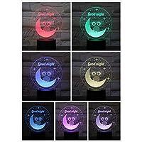 3D LED錯視ランプ フクロウナイトライトイリュージョン装飾ランプバードランプ子供キッズギフトベビー常夜灯ナイトホークテーブルランプ寝室