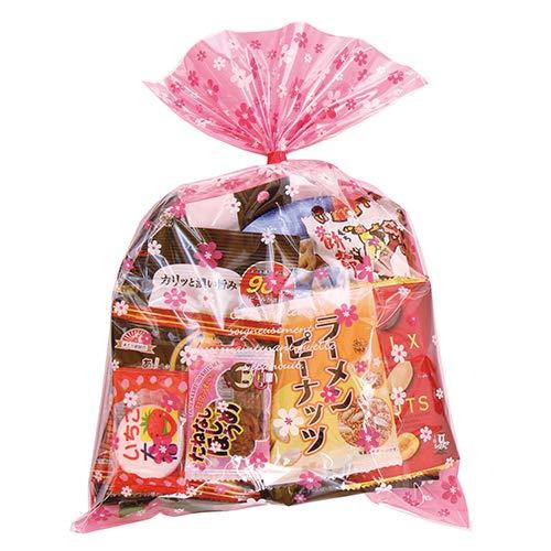 花柄袋 大人おつまみスナック A お菓子袋詰め合わせ おかしのマーチ (omtma6269)