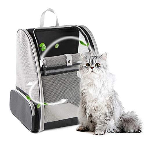 PetGens Hunderucksack, Katzenrucksack für Katzen und Hunde Welpen, Atmungsaktive und Faltbare Haustier Hunde Rucksack mit internem Sicherheitsgur (12.6 * 11 * 16.14 inch)