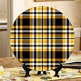 Grate gialle carine Piatto piccolo in ceramica Piatti in ceramica per bambini Piatto oscillante per la casa con espositore Decorazione espositori per piatti domestici
