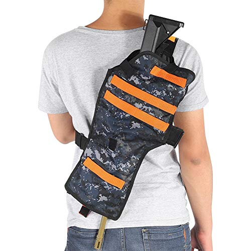 Tbest Storage Bag for Guns,Toy Shoulder Holster,Target Pouch Storage Bag Adjustable Holster Shoulder Bag for Tactical Toy Gun