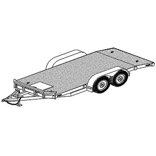 """18' x 80"""" Car Carrier Trailer Plans Blueprints, Model 1218-80"""