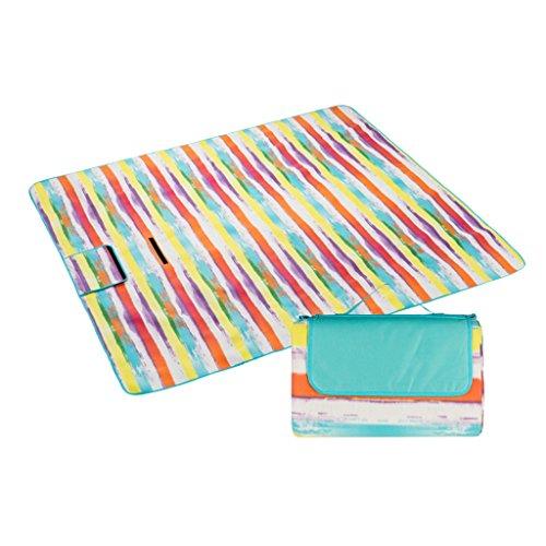 DYW-Picknickmatte Bequeme Strandmatte Im Freien Kampierende Farbmatten, Wandernde Autokastenmattenmattefamilienpaarmatten 200 * 210cm Faltbar und tragbar