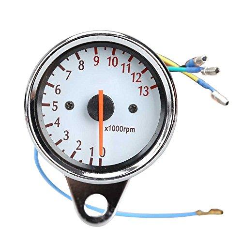 Motorrad Tachometer - TOOGOO(R) Universal Motorrad Roller 13000 RPM Analog Tachometer Lehre Nachtlicht