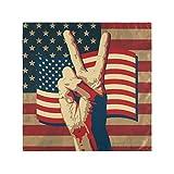 Irud gefaltete Handtuchserviette für Tischdekoration, das Siegesschild mit USA-Flagge, Geburtstag, Mittagessen, Cocktail-Serviette, Jahrestag, Party-Dekoration, 50,8 x 50,8 cm x 1 6er-Set bunt