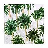 ADosdnn 15pcs Landschaft Modell Kokosnusspalmen Artificial Plant Simulation Coconut Tree Sand Tabelle Modell Tactical Props (Color : Olive)