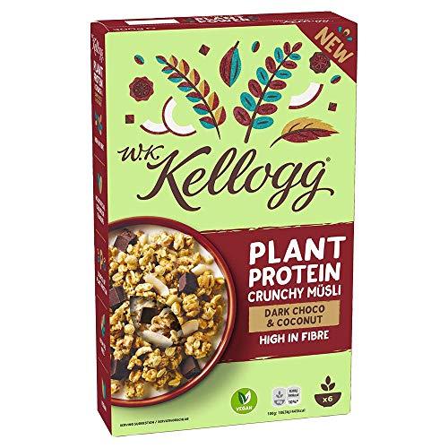 W.K KELLOGG Crunchy Müsli Plant Protein, vegan & palmölfrei, Quelle pflanzlicher Eiweiße, 300 g