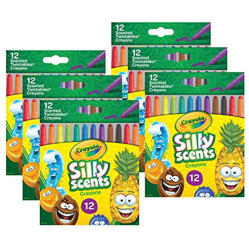 Crayola Silly Scents Mini Twistables Scented Crayons, 12 Per Pack, 6 Packs