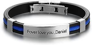 mens bracelets rubber stainless steel