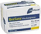 Meditrade 1798 Beesana - Compresse in tessuto non tessuto per l'alimentazione esterna, non sterili, 6 scomparti, 30 g, 10 cm x 10 cm, confezione da 100 pezzi