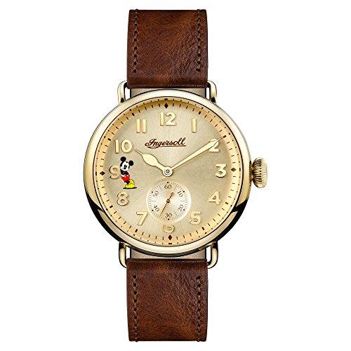 Ingersoll Herren Analog Quarz Uhr mit Leder Armband ID01201
