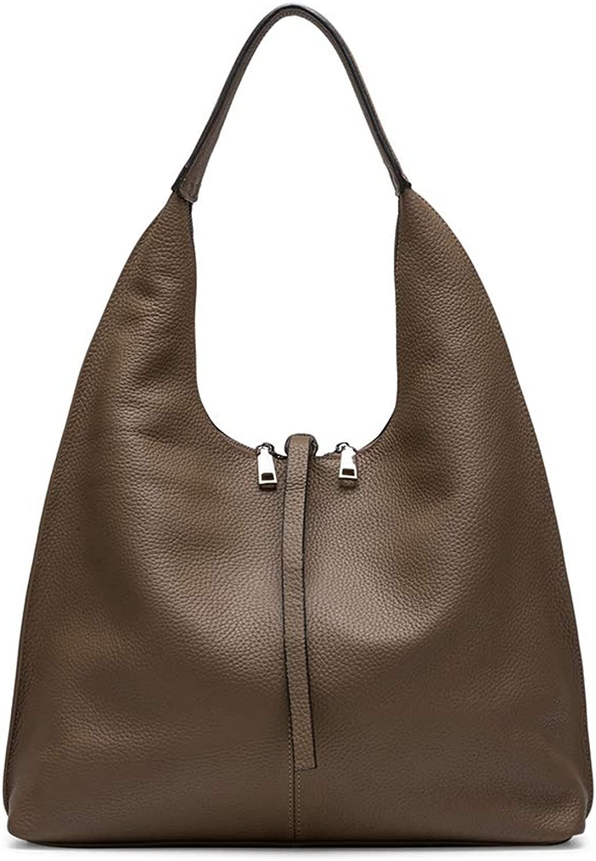 Naiermai Women's Vintage Leather Top Handle Satchel Handbags Shoulder Bag Tote Purse Genuine Leather Daily Work Large Capacity (Apricot)