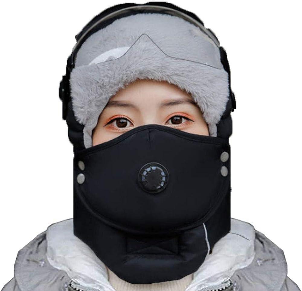GWL Cappelli Aviatore Inverno Cappello da Caldo Earflap con Maschera Antivento con Maschera Antivento con Bicchieri Unisex Cappello Ushanka per Sci attivit/à Sportive Allaperto