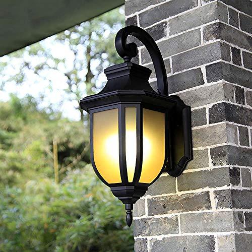 HYYK Victorian Down Outdoor Waterproof Vintage Wall Lamp European E27 Aluminum Exterior Moisture Proof Wall Sconce Lantern American Villa Aisle Garden Patio Rainproof Wall Lights