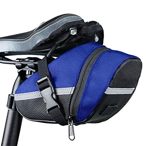 Bolsa para sillín de bicicleta de montaña, impermeable, para guardar la tija del sillín, 1 L