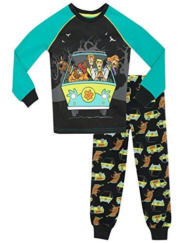 Scooby Doo - Pigiama a Maniche Lunga per Ragazzi Vestibilitta Stretta - 7-8 Anni