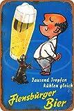 Wild boy FLENSBURG Beer Drinker Jahrgang Retro Werbung