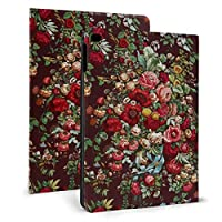 iPad mini4/mini5 7.9インチ ケース 手帳型 高級PUレザー オートスリープ機能 多角度調整 全面保護 (更紗の花柄パターン )