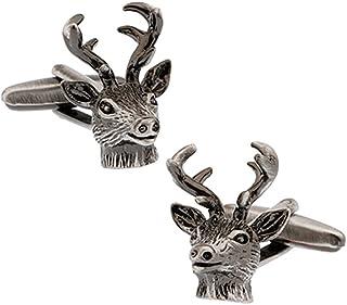 أزرار أكمام Vcufflinks Buck Deer Head Premium بأزرار أكمام للصيادين