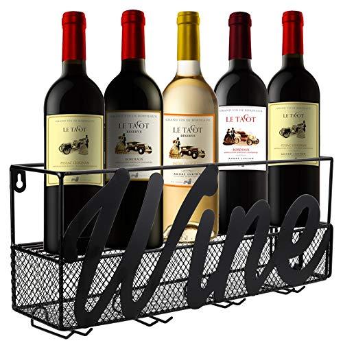 4 bottle metal wine rack - 5