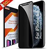 Uxinuo Privacy Screen Protector for iPhone 11 Pro Max, Premium 4D Curved Edge to Edge Full Coverage Privacy Tempered Glass Screen Protector for Apple iPhone 11 Pro Max, Xs Max (Privacy 11 Pro Max 6.5)
