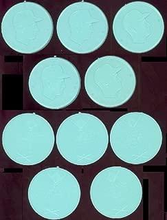 1955 Armour Coins Regular (Baseball) Card# 1 Johnny Antonelli (aqua)n.y. giants of the New York Giants NrMt Condition