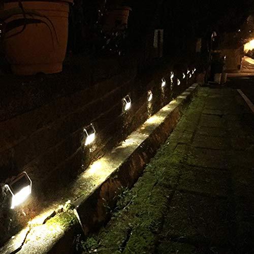 Lámpara para valla de suministro de energía solar, lámpara de porche, con tuerca de tornillo para porches, senderos de patio, caminos de entrada, puertas de garaje, patio