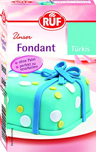 RUF Fondant Türkis Rollfondant Modellierfondant Palmfrei, 250 g