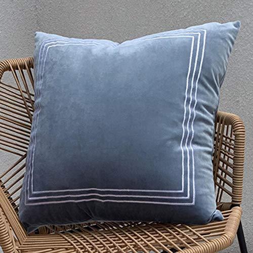 ZMQBY Funda cojin Juego de 2 Piezas de de Terciopelo de Color sólido Cuadrado 45 x 45 cm se Puede Utilizar para Dormitorio, balcón, sofá-re