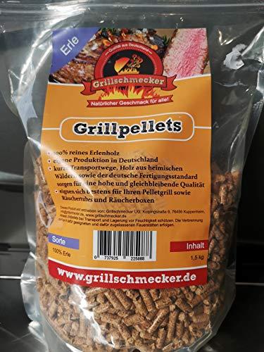 Grillschmecker Grillpellets - Holzpellets aus Reiner Erle für Grill, Pelletofen & Smoker - 1,5 kg Testpackung
