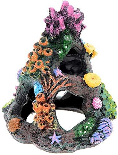 AnRui Aquarium Landscape Decoration Aqua Artificial Colorful Mountain Hideaway Cave Ornament