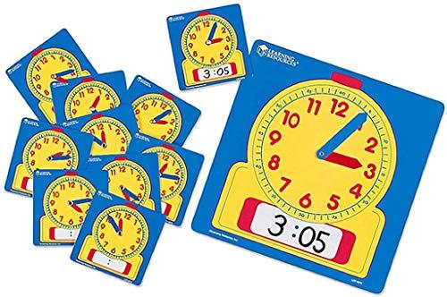Learning- Set para el Aula de Relojes de Escribir y borrar, Color (LER0575)