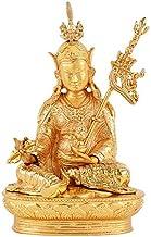 ZGPTX Lotus Peanut Sergeant Gilded Buddha Statue Tibetan Mizong Buddhist Lotus Teacher Buddha Car Carry-on Pieces 2 Inch 7cm