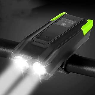 OSALADI Luz de Bicicleta USB Luz Blanca Faros Delanteros Recargables Equipo para Montar Bicicleta para deslumbramiento Nocturno