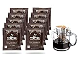 Premium Single-Serve Pour Over Colombian Coffee Pouches | Portable Ground Coffee Drip Cups | Single Origin Colombian Fair-Trade Specialty Coffee | 10 Count Box Coffee Singles | Twin Peaks Coffee