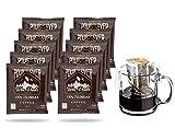 Twin Peaks Premium 100% All Natural Single Serve Pour Over Colombian Arabica Coffee, Non GMO, 10 12...
