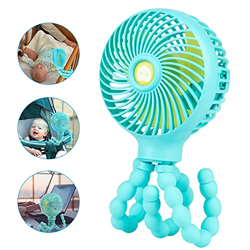 Car Seat Fans for Backseat Baby, Baby Stroller Clip on Fan for Baby Cars, USB Battery Operated Mini Personal Handheld Fan for Car Home Office Outside