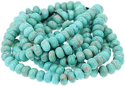 ventas al por mayor MEXICAN CAMPITOS TURQUOISE Beads Rondelles 6.3mm 6.3mm 6.3mm Aqua  selección larga