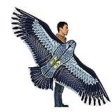 RENS Cometa de águila enorme con cuerda y asa, linda cometa de animales al aire libre, fácil de volar para niños principiantes y adultos