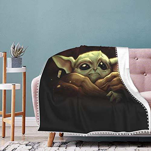 Baby Yoda Coperta Morbida e Traspirante Trapunta Culla Culla Coperta Passeggino per Bambino Perfetto Doppia Coperta Universale 127 x 101,6 cm